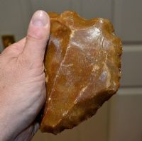 "A huge, excellent Paleolithic Neanderthal ""Levallois Core"" flint hand axe, France 1950's/60's  SOLD"
